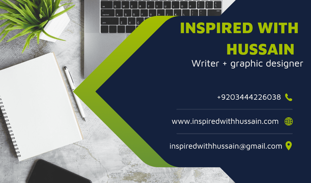inspired with hussain business card